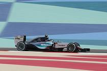 Nico Rosberg v tréninku na Velkou cenu Bahrajnu.