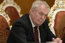 Miloš Zeman na státní návštěvě Tádžikistánu.