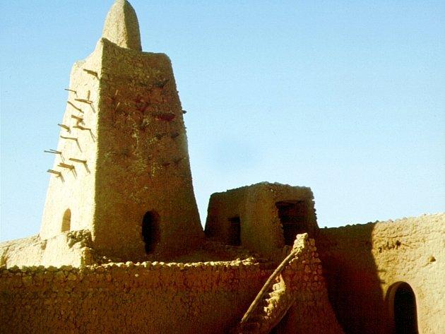 Dávné obchodní město Timbuktu.
