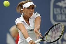 Petra Cetkovská ve finále turnaje v New Havenu.