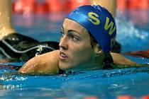 Švédská plavecká hvězda Therese Alshammarová.