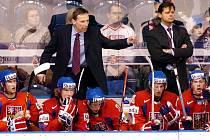 Bývalí trenéři české hokejové reprezentace do 20 let Miloslav Hořava (vlevo) a Radim Rulík se znovu sejdou na lavičce Plzně.