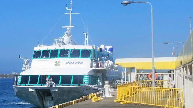 Trajekt společnosti Sado Steam Ship.
