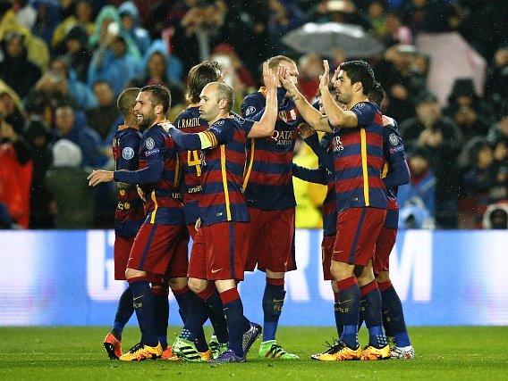Barcelona - Arsenal: Radost domácích fotbalistů z trefy Neymara