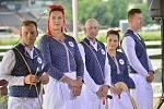Čeští olympionici při odhalení nástupové kolekce