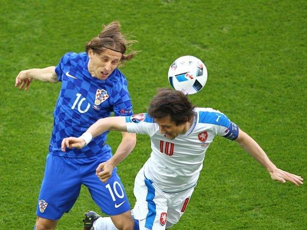 Luka Modric a Tomáš Rosický