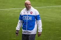 Trenér fotbalové jednadvacítky Jakub Dovalil.