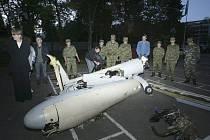 Gruzínské bezpilotiní letadlo sestřelené nad Abcházií.