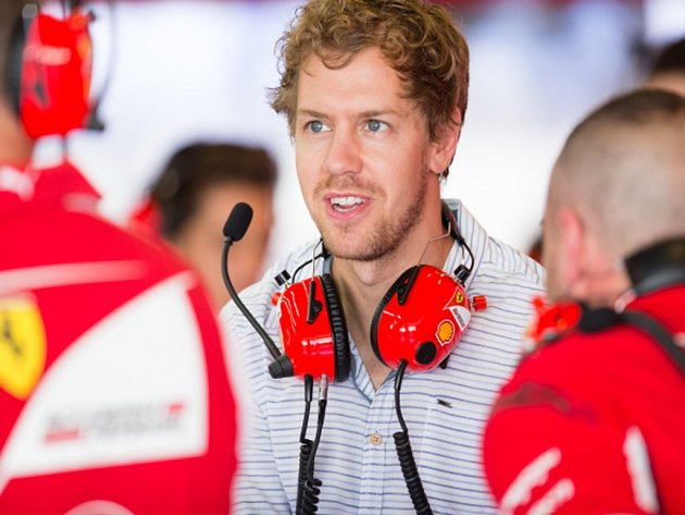 Sebastian Vettel u svého nového zaměstnavatele Ferrari.