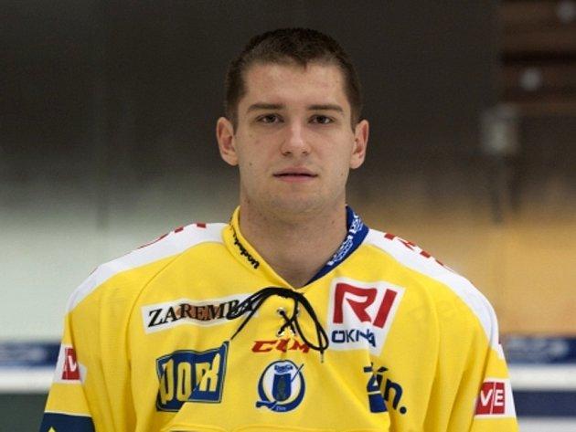 Hráč týmu PSG Zlín Dalibor Řezníček.
