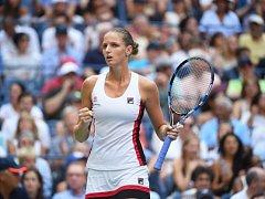Karolína Plíšková na US Open, kde došla až do finále.