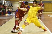 Čeští futsalisté v zápase proti Kazachstánu