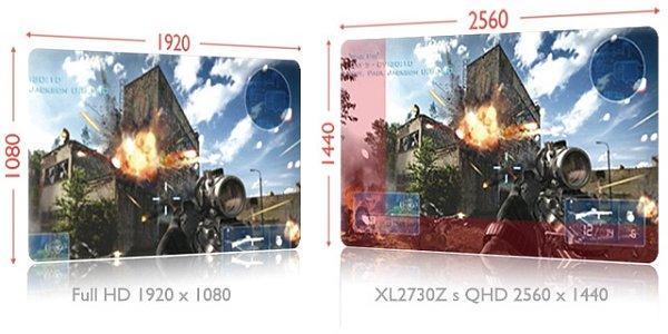 Herní monitor BenQ XL2730Z.