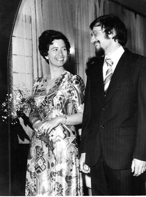 Jan Kovanic na svatební fotografii.