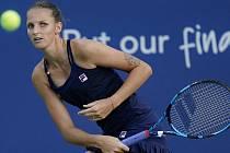 Česká tenistka Karolína Plíšková v utkání 2. kola turnaj v New Yorku.