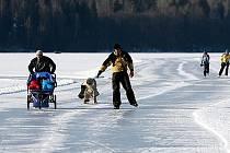 Silné mrazy slibují, že se lipenská přehrada v těchto dnech stane největším sportovištěm v zemi. Provozovatelé připravují tamní bruslařskou trať, zatím ale lidem nedoporučují, aby na dráze bruslili. Led prý není dostatečně silný.