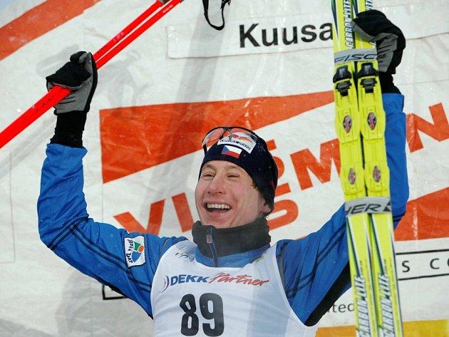 Lukáš Bauer po vítězství v Kuusamu