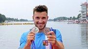 Martin Fuksa se raduje z dvou zlatých medailí na MS Evropy.