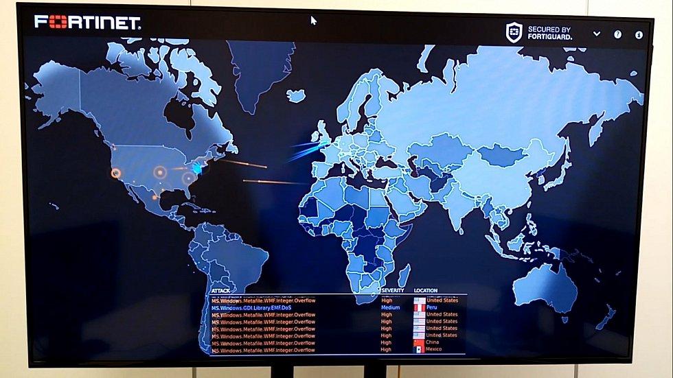 Monitor zaznamenává útoky a odrazy útoků