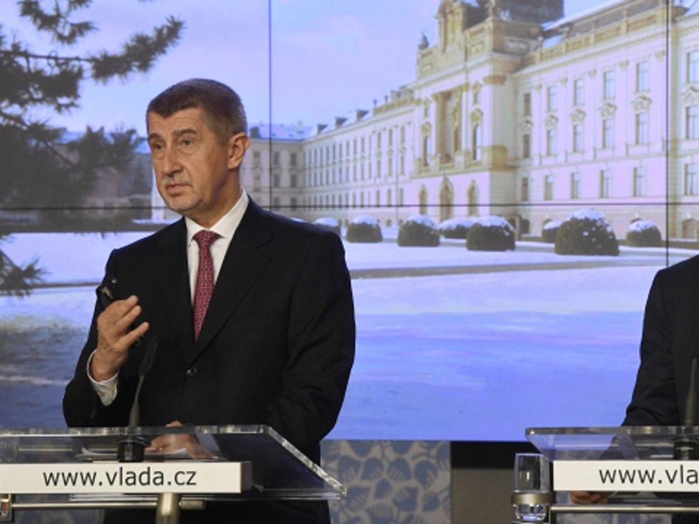 Andrej Babiš před hlasování o důvěře vlády.