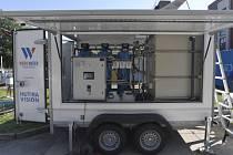 Mobilní úpravna pitné vody. Ilustrační snímek