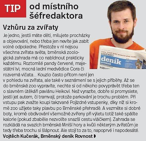 Brno, tip šéfredaktora