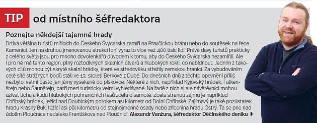 Českosaské Švýcarsko, tip šéfredaktora