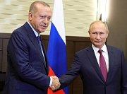 Recep Tayyip Erdoğan (vlevo) a Vladimir Putin.