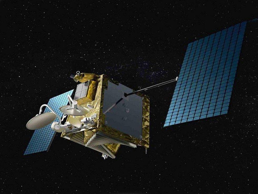 Umělecká představa komunikačního satelitu OneWeb.