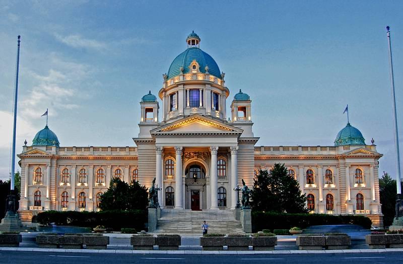 Budova jugoslávského, dnes srbského parlamentu v Bělehradě.