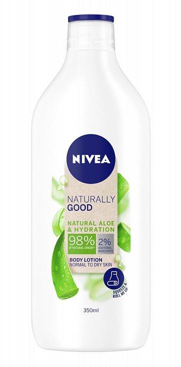 Tělové mléko Aloe vera, Naturally Good, Nivea.