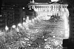 Sametová revoluce - Jak to vypuklo. Václavské náměstí 20. listopadu