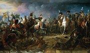 Bitva u Slavkova. Vítězný návrat generála Rappa, který Napoleonovi přiváží ukořistěné ruské prapory a zajatého knížete Repnina