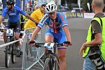 Cyklistka Barbora Průdková