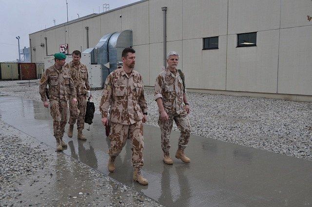 Čeští vojáci na základně Bagrám v Afghánistánu.