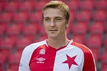 Fotbalista Milan Černý v dresu pražské Slavie.