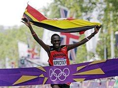Stephen Kiprotich vyhrál olympijský maraton v Londýně.
