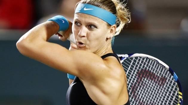 Lucie Šafářová na turnaji v Charlestonu.