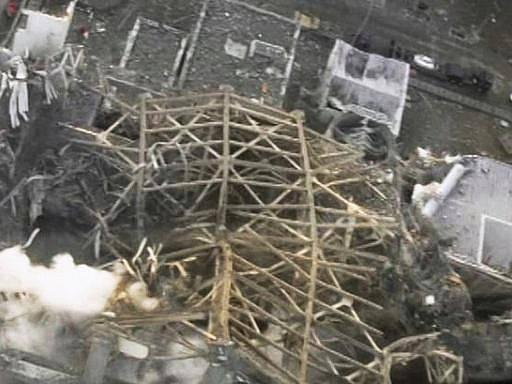 Zničená jaderná elektrárna Fukušima.