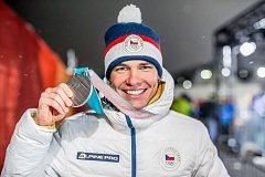 Michal Krčmář s vysněnou medailí.