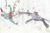 Obrázek, které nakreslily děti ve válkou zmítaném Darfúru.