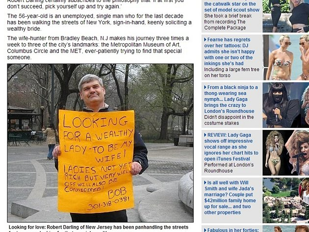 Nezaměstnaný osmapadesátiletý Robert hledá již více než 40 let ženu svého života.