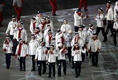Česká výprava na slavnostní zakončení olympijských her v Pchjongčchangu.