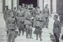Francisco Franco se svými veliteli