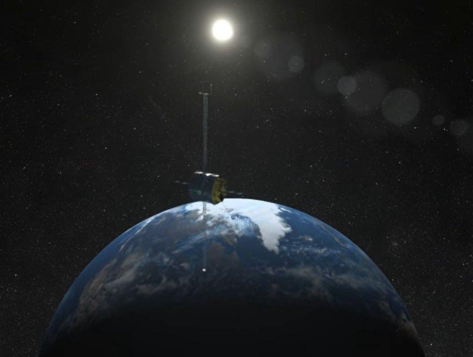 Pouze ilustruje skutečnost, jak rotující vesmírná loď může díky své rotaci ostřeji zachytávat signály