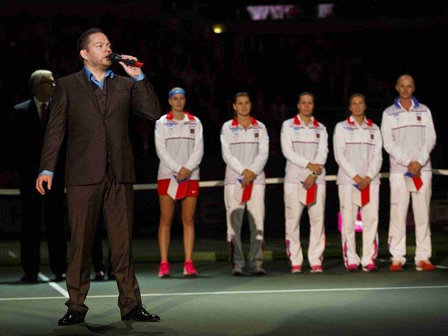 Zahájení finále tenisového Fed Cupu v Praze.