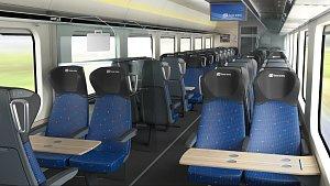 Vizualizace nových vagónů poptávaných Českými dráhami