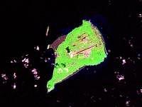 Iwodžima (Iwoto) - satelitní snímek