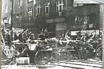 Pražské povstání, barikáda v ulicích
