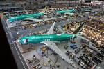 Výroba 737 MAX v závodě Boeingu v Rentonu.